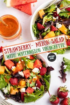 Best Salad Recipes, Fun Easy Recipes, Summer Recipes, Healthy Recipes, Melon Salad, Summer Salads, Summer Bbq, Ways To Eat Healthy