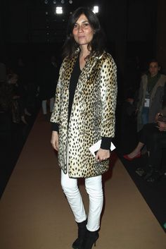 Emmanuelle Alt / white denim jeans