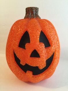 Halloween Glowing Light Up Pumpkin Holiday Decor Jack-O-Lantern Electric Sparkle