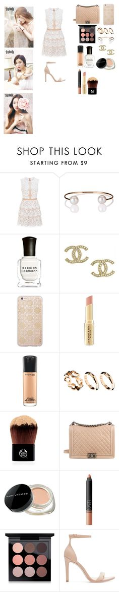 """Last set of 2016"" by cacaubsampaio ❤ liked on Polyvore featuring BCBGMAXAZRIA, Letters By Zoe, Deborah Lippmann, Chanel, Sonix, Napoleon Perdis, MAC Cosmetics, ASOS, The Body Shop and Marc Jacobs"
