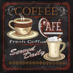 Coffee Caf? by Conrad Knutsen art print