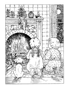 coloring page Christmas (traditional) on Kids-n-Fun. Coloring pages of christmas. These coloring pages are very nice, old fashioned drawings At Kids-n-Fun you will always find the nicest coloring pages first! Coloring Pages For Grown Ups, Cool Coloring Pages, Colouring Pics, Christmas Coloring Pages, Printable Coloring Pages, Free Coloring, Coloring Pages For Kids, Coloring Sheets, Coloring Books