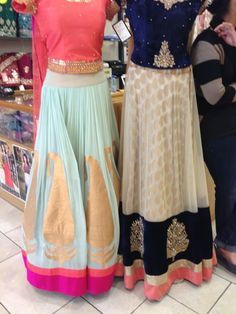 Gorgeous mint & gold chaniya choli ..<3 Charming brocade & gold lehenga <3
