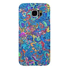 Cute colorful abstract painting flowers samsung galaxy s6 case - flowers floral flower design unique style