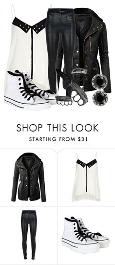 """""""Stabbed"""" by bubbythenarwhal ❤ liked on Polyvore featuring LE3NO, River Island, Citizens of Humanity, Converse, Betsey Johnson, women's clothing, women's fashion, women, female and woman"""