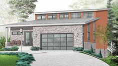 Eplans Contemporary-Modern House Plan - Three Bedroom - 2960 Square Feet and 3 Bedrooms from Eplans - House Plan Code HWEPL74082