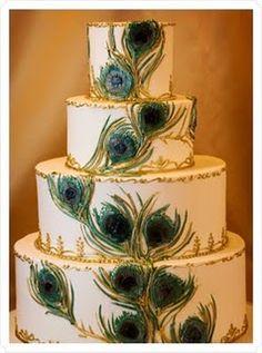 peacock weeding cake