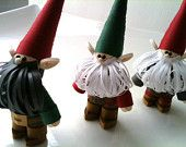 Nisse Christmas Ornaments, Swedish Scandinavian Tomte, Paper Quilled Trio