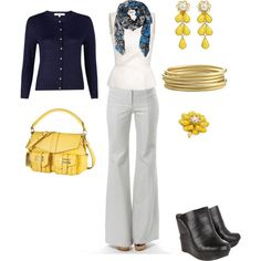 Navy w/yellow accents