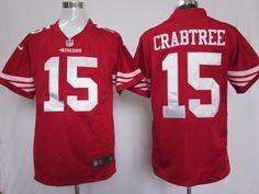 Crabtree Red Jersey, San Francisco 49ers #15 Game Nike NFL Jersey$23