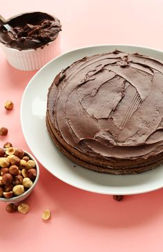 THE BEST Chocolate Hazelnut Cake! Moist, rich, 1 bowl and #vegan #glutenfree