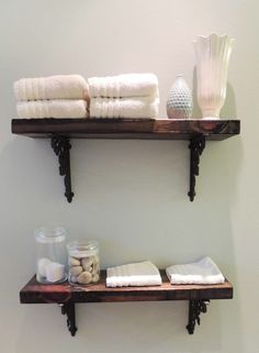 Ideas Para Hacer Set De Baño:Original estante de baño de diseño casero