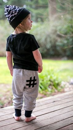 0ac3bbe2a1d65 Gray Hashtag Harem Pants by SkuttleBum, Leggings or Harem Shorts - Baby  Harem Shorts Baby Harem Pants Baby Leggings Baby Pants