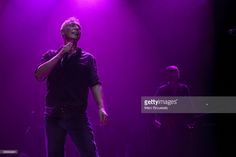 Danny Bowes of the band Thunder performs on stage at Hammersmith Apollo on July 11, 2009 in London, England.