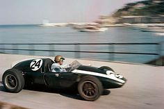 Sir Jack Brabham turns his Cooper into Tabac corner during the 1959 Monaco Grand Prix in Monte Carlo. Brabham went on to win his first F1 championship that year.