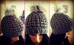 Super EZ #Crochet Hat Pattern. Perfect last minute #Christmas Gift. #Christmascrochet