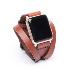 Triple Tour™ Full Grain Leather Apple Watch Band Medium
