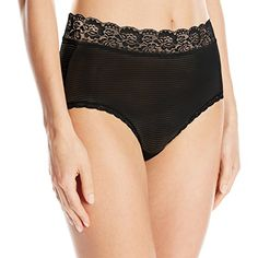 Vanity Fair Women's Flattering Lace Brief Panty 13281, Midnight Black, X-Large/8 * Check the link at the image. Amazon Affiliate Program's Ads.