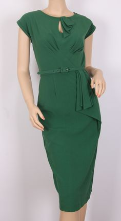 1940's green wiggle dress. -  fun for work in a jersey print. Maybe crepe for evening?