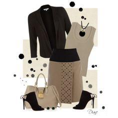 Taupe & Black