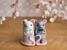 Mouse Wedding Cake Topper by Bonjour Poupette by BonjourPoupette