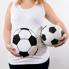Soccer Maternity Shirt, World Cup tank top, Soccer Ball Baby Bump Tank, futbol jersey