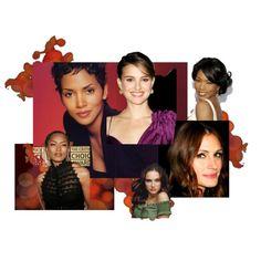 Deep, Dark Autumn Celebrities, created by authenticbeauty