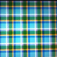 Manx tartan. I think it is beautiful.  The lilac represents the heather on the hills, the yellow the Gorse in the hedgerows, the pale blue is the sky the dark blue is the Irish sea and the green the beautiful land.