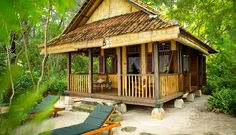 Have A Private Island All To Yourself With These 16 Rentable Estates Hut House, Tiny House Cabin, Style At Home, Cabana, Bamboo House Design, Beach Houses For Rent, Bamboo Architecture, Casamance, Beach Bungalows