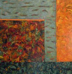 Herfst uit de 4 jaargetijden, schilderij van Vera Wilting | Abstract | Modern | Kunst