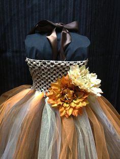 Fall Flower Girl Dress Special Occasion Dress Pageant Dress Recital Dress