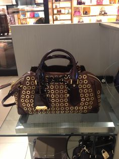 Burberry Prorsum Thorney tote with gold eyelets and leopard haircalf detailing!
