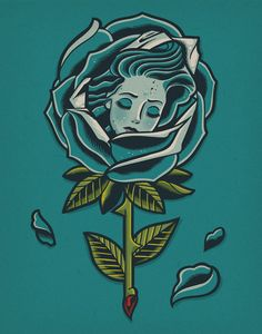 """Dave Quiggle """"Wrapped in Petals"""" Print"""