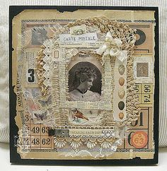 Treasure Each Day ~ lovely paper and lace heritage collage page.