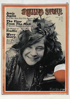 Janis Joplin on the cover of Rolling Stone Magazine – August 1970 Janis Joplin, Rolling Stones, Like A Rolling Stone, Rolling Stone Magazine Cover, Rock And Roll, Rainha Do Rock, Jim Marshall, Pop Art, Poster Art