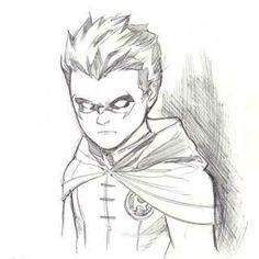 Robin by Marcus To robin batman Damian Wayne, Superhero Sketches, Cartoon Sketches, Chibi Marvel, Marvel Heroes, Character Sketches, Character Art, Dc Comics, Batman Drawing