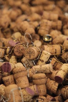 Wine Corks - Just a great texture . http://blog.bradswine.com/wine-facts-five-cork-truths/