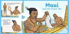 Maui and the Giant Ika PowerPoint Interactive Activities, Child Development, Assessment, Teaching Resources, Lesson Plans, New Zealand, Design Art, Preschool, How To Plan