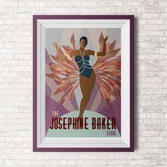 Paris Dance Illustration  Retro Art  Digital by DigitalDraft