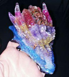 flower Orgonite Orgone Crystal Stone chakra EMF Energy Reiki decoration Tesla
