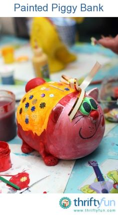 "This is a guide about homemade ""piggy"" bank crafts. Many household items can be recycled or repurposed to make cute piggy banks or you can start with new materials."