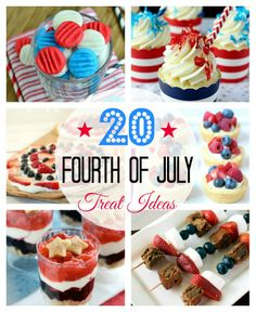 20 of the Best Fourth of July Treat Ideas #patriotic #treats #july #fourth