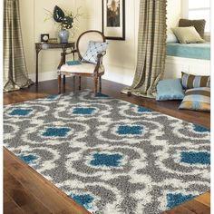 Found it at Wayfair - Florida Gray/Turquoise Area Rug