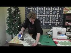 Jenny Doan demonstrate a quick and easy Christmas table runner project using the Large Half-Hexagon Template.