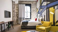 After years of moribundity, there is new life in Sydney's boutique hotel scene. Ovolo has spruced up the 1888 Hotel in Pyrmont and the old W-then-Blue hotel on Woolloomooloo Wharf, now called Ovolo Wooloomooloo. Unlisted Collection just opened a new hotel called the Old Clare. More coming. #ovolo #ovolo1888 #boutiquehotels #newhotels #designhotels #design #sydney #hotellife #instahotel #interiors #interiordesign #darlingharbour #pyrmont #wooloomooloo