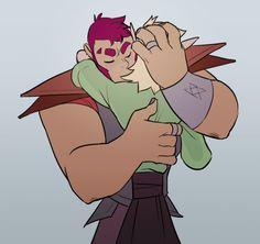 hug time, its hug time everybody. imo magnus is very good at hugs and taako is very bad at them