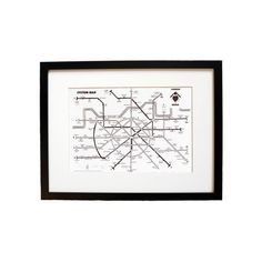 Liam Roberts London Metro System Map Print ($22) ❤ liked on Polyvore featuring home, home decor, wall art, paper wall art, heart wall art, map wall art, subway wall art and london wall art