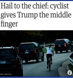 """Wow....there are Millions & Millions of Americans who can't stand that Puss Bag trump!! Last week he got """"Mooned"""" by Great Citizen as his motorcade rode by!! This is a great idea if you see Public Enemy #1 riding by.....Give him the middle finger or drop those pants and tell him to Kiss Your Ass!! (Show No Respect!) ZERO!!"""