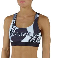 ICANIWILL Grey White Leo Sport Bra
