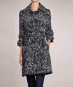 Look what I found on #zulily! Charcoal Crop-Sleeve Car Coat by Neslay Paris #zulilyfinds